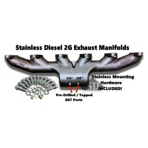 T-4 24 VALVE STAINLESS DIESEL EXHAUST MANIFOLD-0