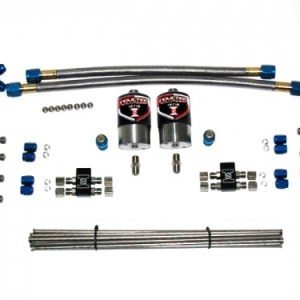Induction Solutions Single Stage EFI Dry Nitrous Plumb Kit-0