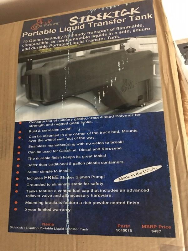 Titan SIDEKICK Portable Liquid Transfer Tank-0