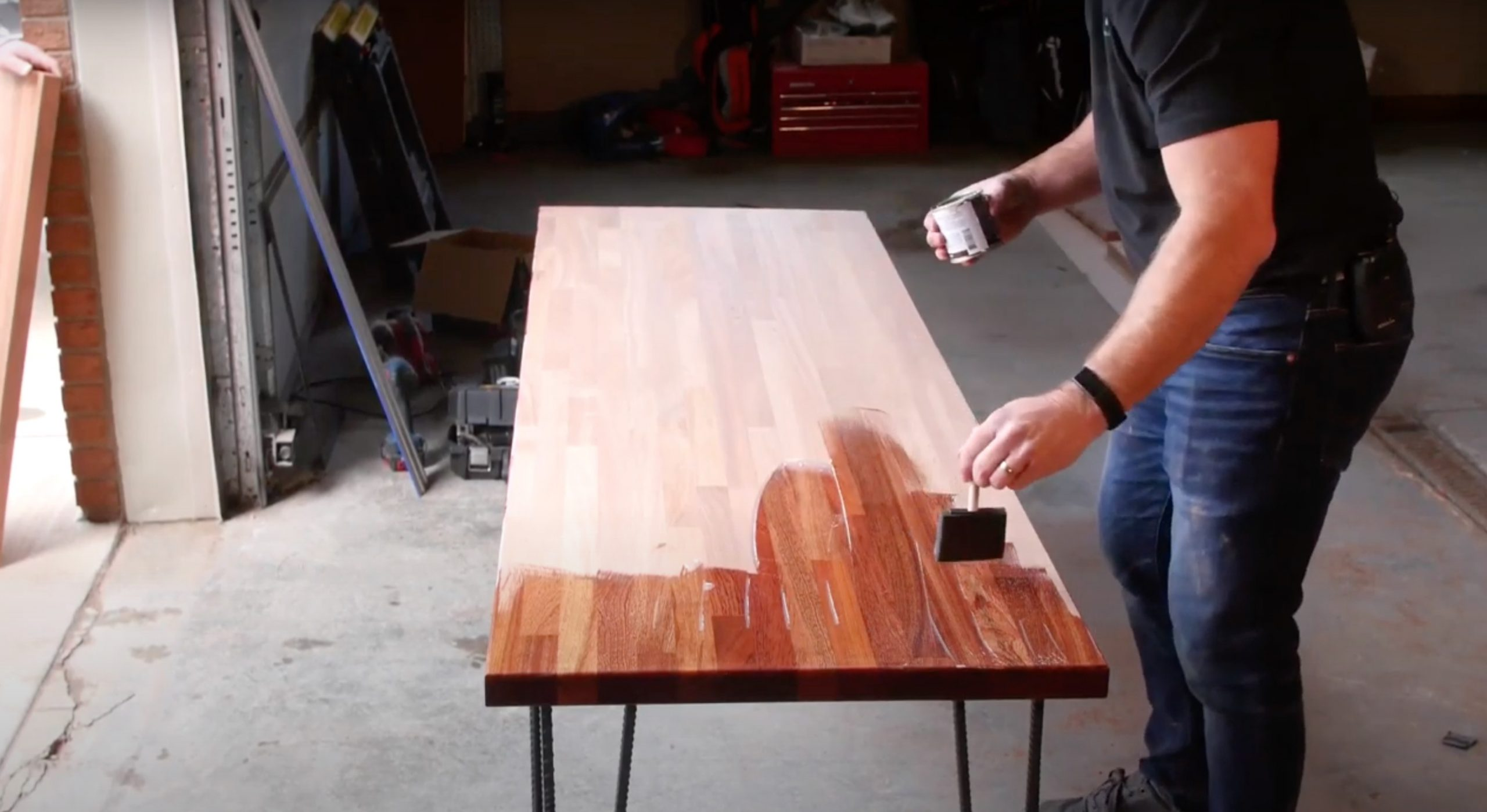 How To Build A Modern Diy Desk With Butcher Block Hardwood Reflections