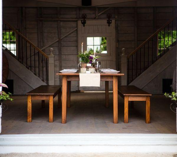 A Rustic Elegant Dinner Wedding Reception Venue