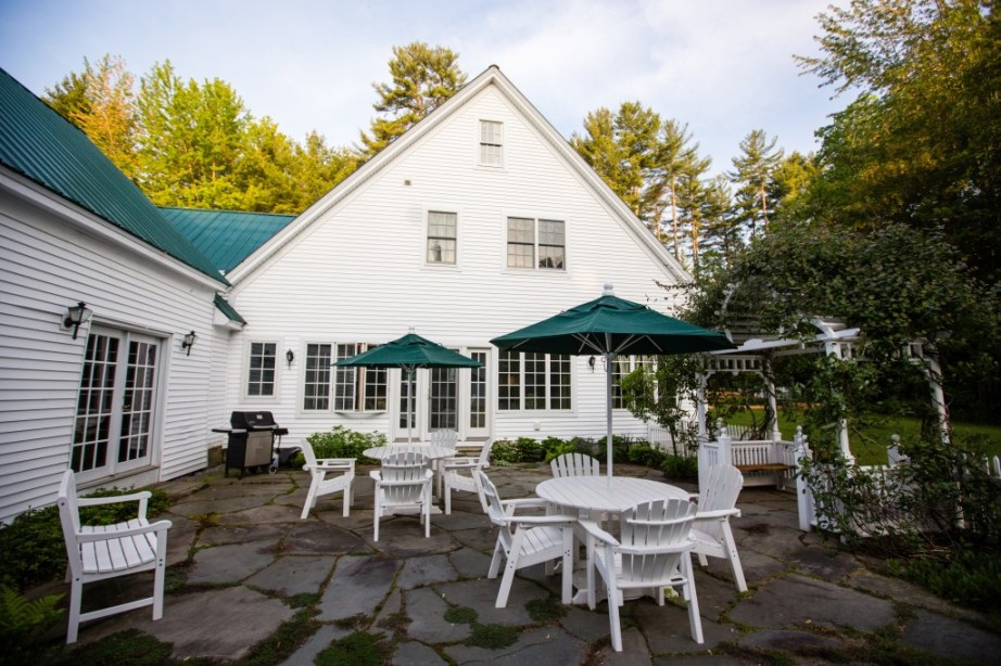 patio maine barn wedding venue