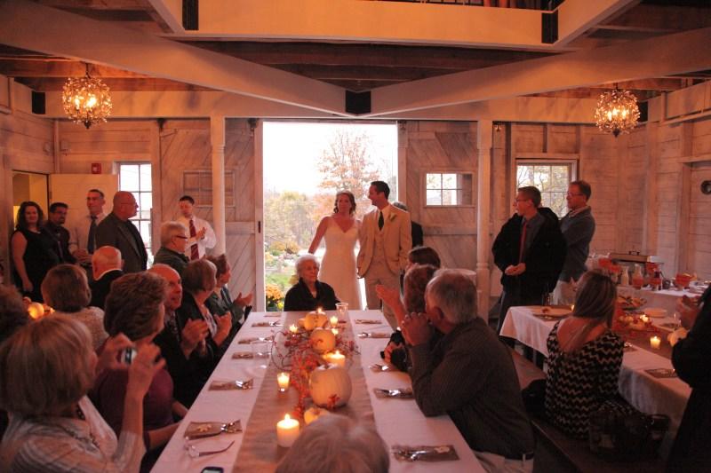 barn wedding maine