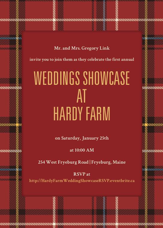 hardy farm wedding showcase invite
