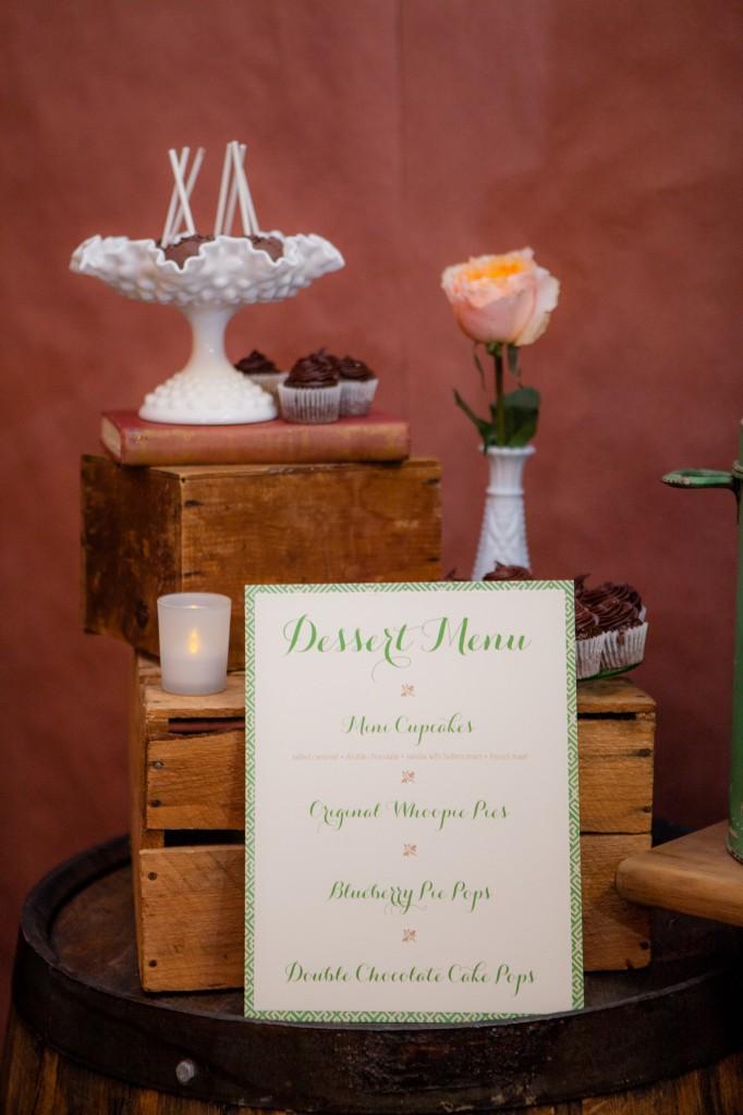 dessert display wedding