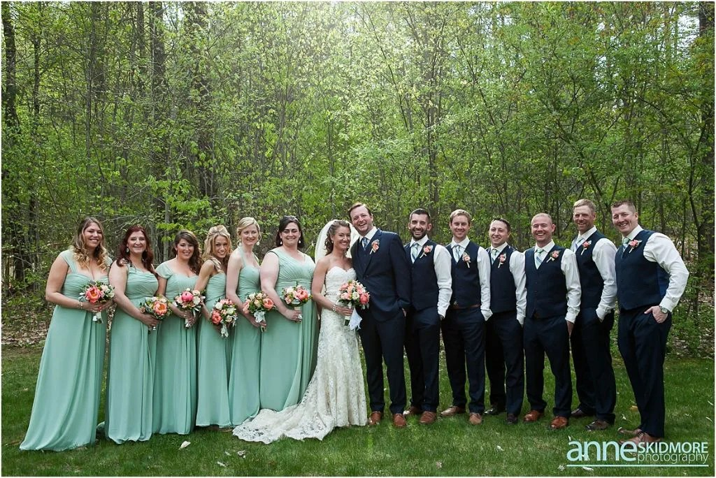 Maine barn venue_hardy farm_anne skidmore photography_seafoam green bridesmaids