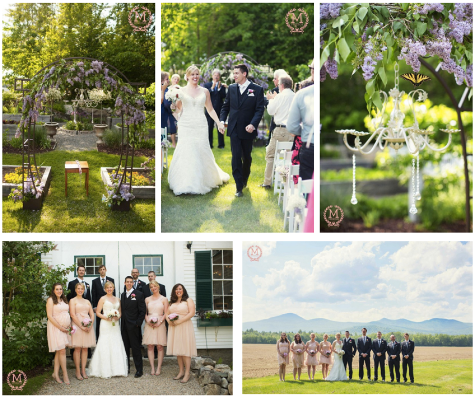 spring wedding in maine
