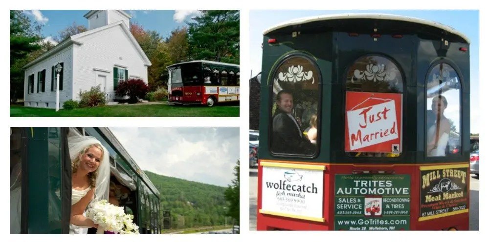 Wolfeboro Trolley_Maine Wedding Showcase