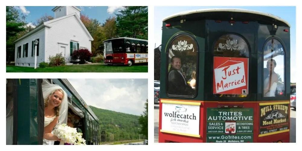 Wolfeboro Trolley_Maine Wedding Showcase