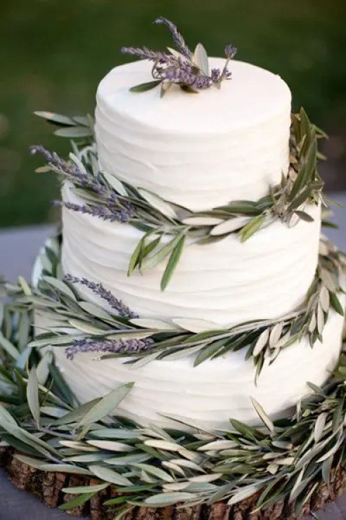 Lavender Cake Go Garden To Table With An Herb Trimmed Buttercream Confection Susie Cakes Amy And Stuart Photography Via Brides