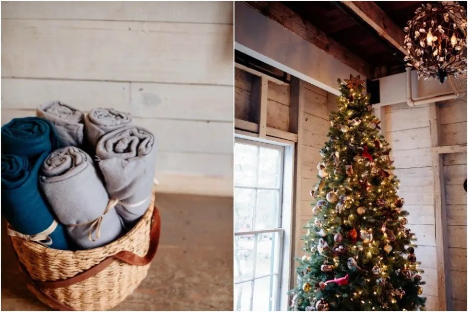 cozy maine winter wedding looks