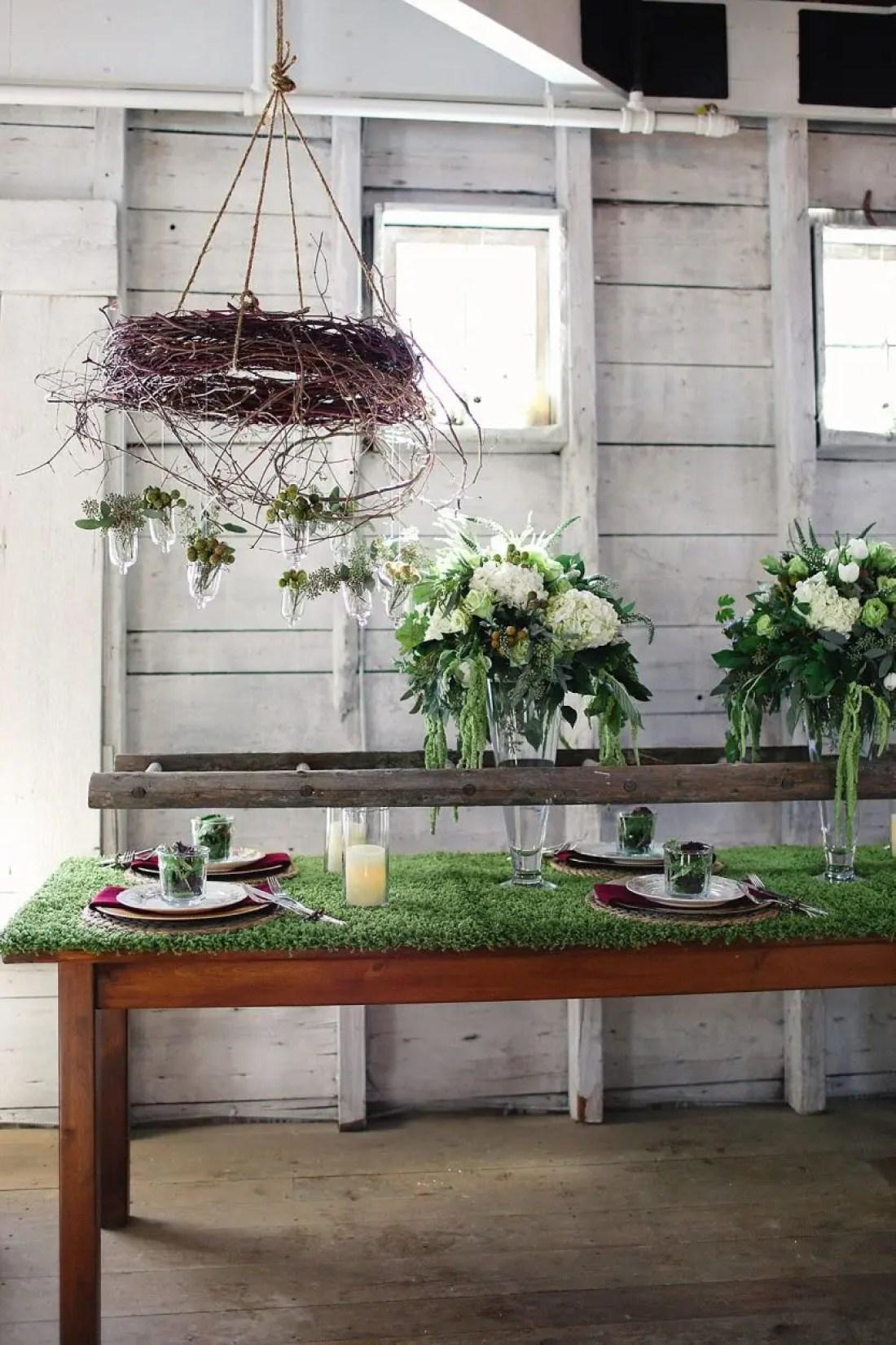 Earthy elements at wedding