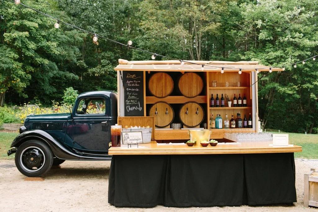 Food truck bar at wedding