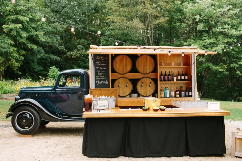 Food truck bar at wedding