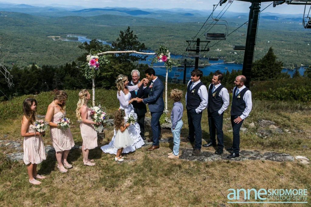 Maine mountaintop wedding