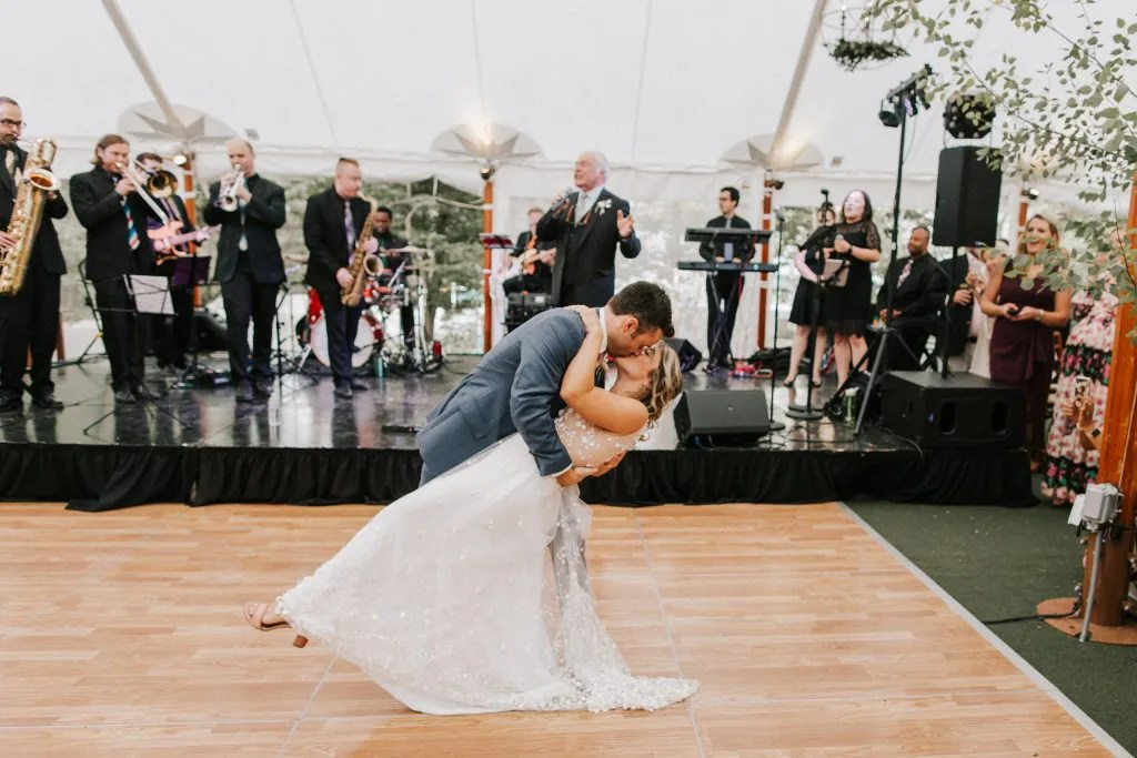 first dance in Maine tent wedding