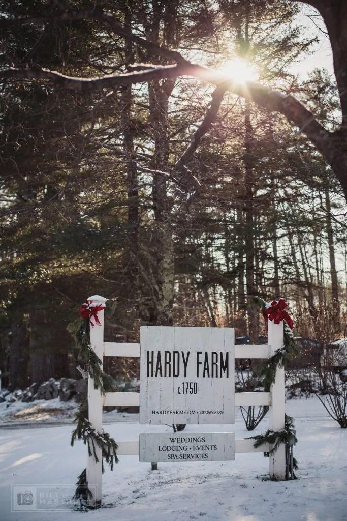 Winter Wedding at Hardy Farm