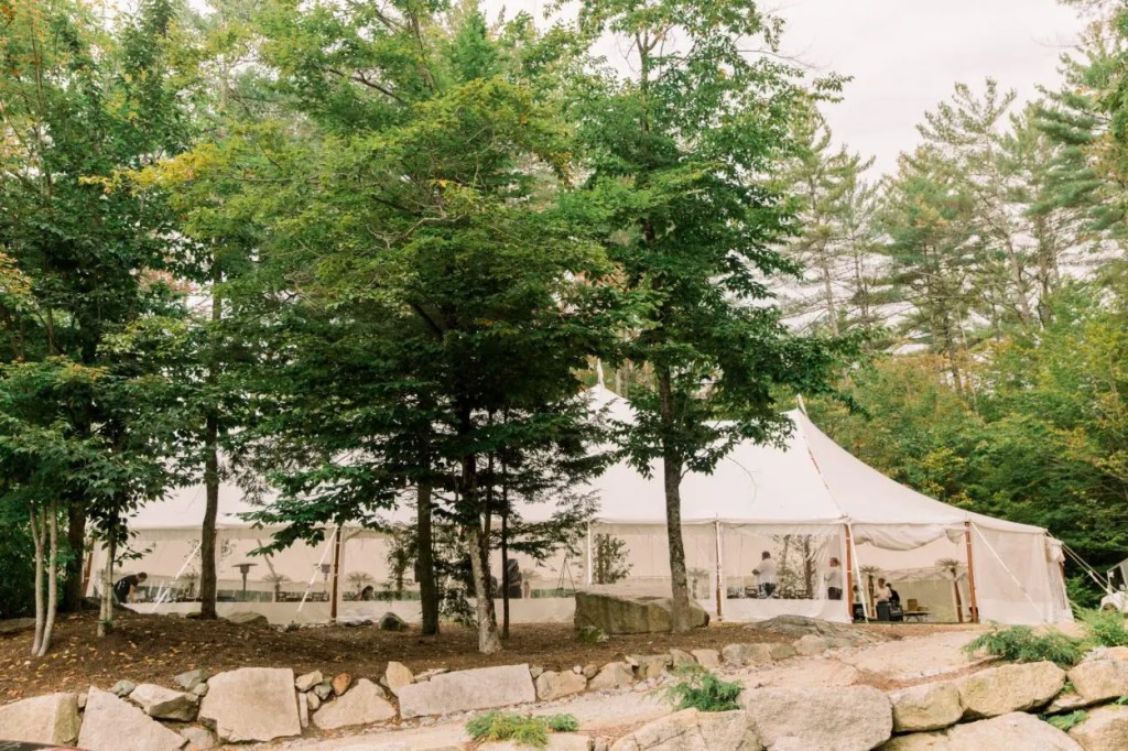 Maine sailcloth wedding tent