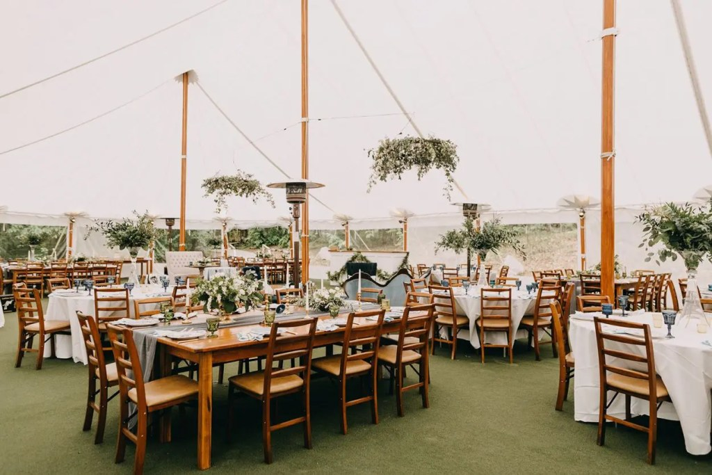 Maine Spring Wedding Tent