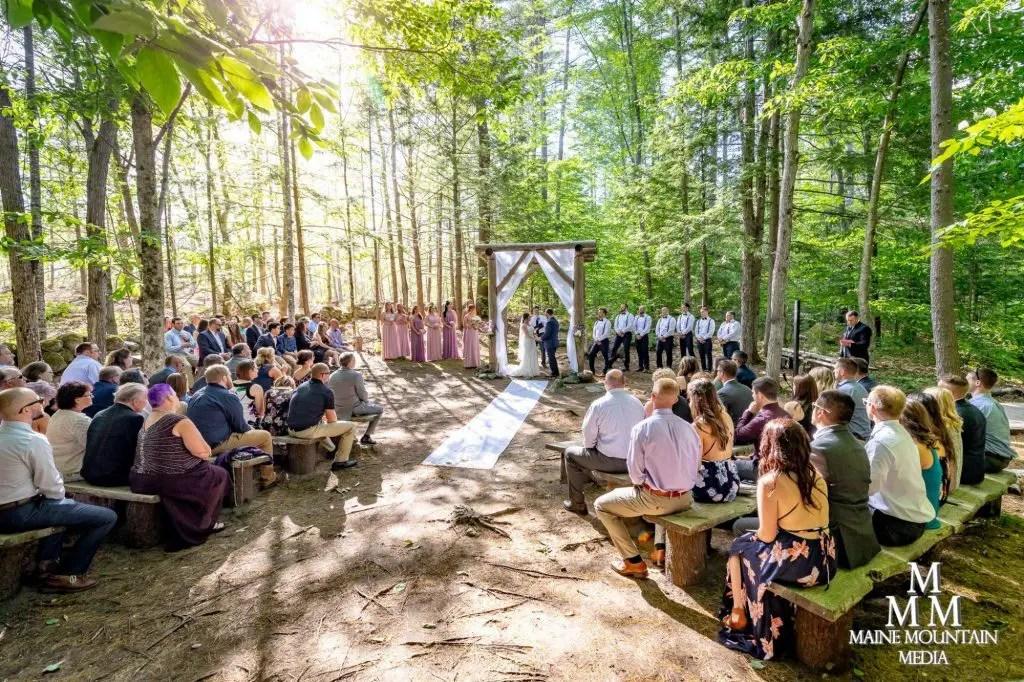 Spring woods wedding