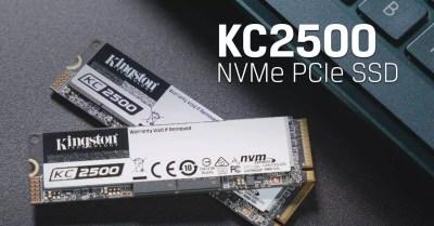 Kingston KC2500, NVMe SSD efficiency up to 2TB