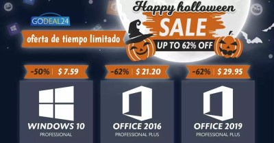Windows and office licenses are reduced for Halloween