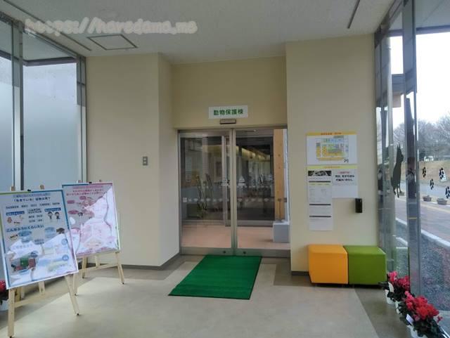 入口から眺める動物保護棟