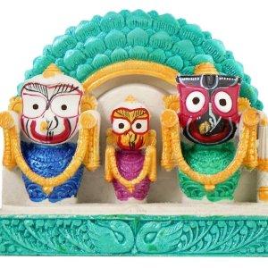 Jagannath Baladev Subhadra Marble Dust Deity / Murti - Surya Prabha