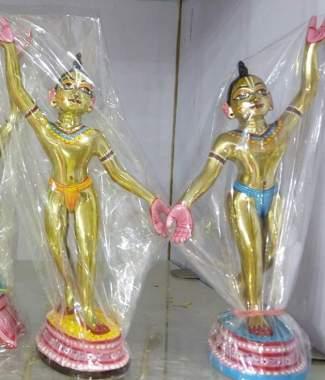 Gaura Nitai HUD 10 inches Metal