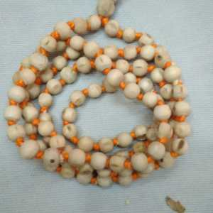 Tulasi Japa Mala 7mm Yellow Thread