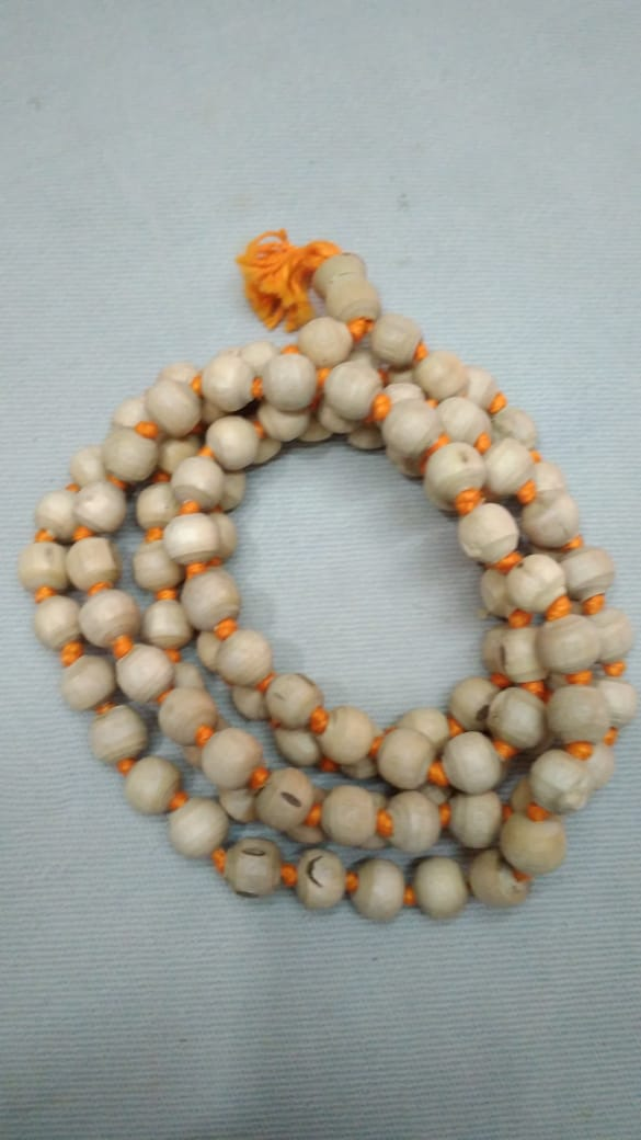 Tulasi Japa Mala 8mm Yellow thread clear