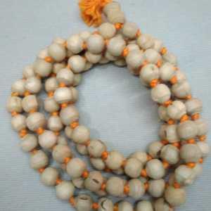 Tulasi Japa Mala 8mm Yellow thread clear