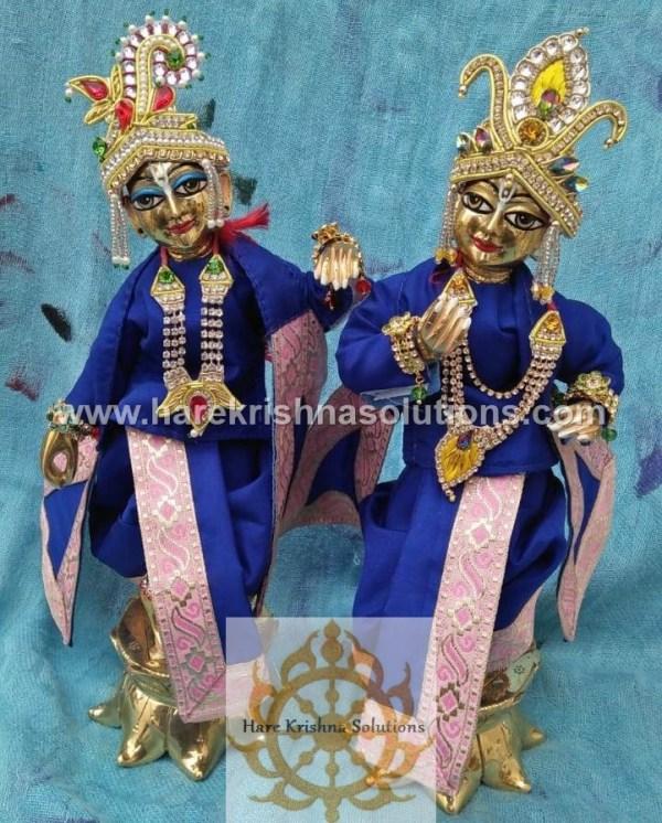 Krishna Balaram 10 inches PlainBlue (1)
