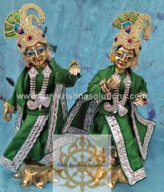 Krishna Balaram 10 inches PlainGreen (1)