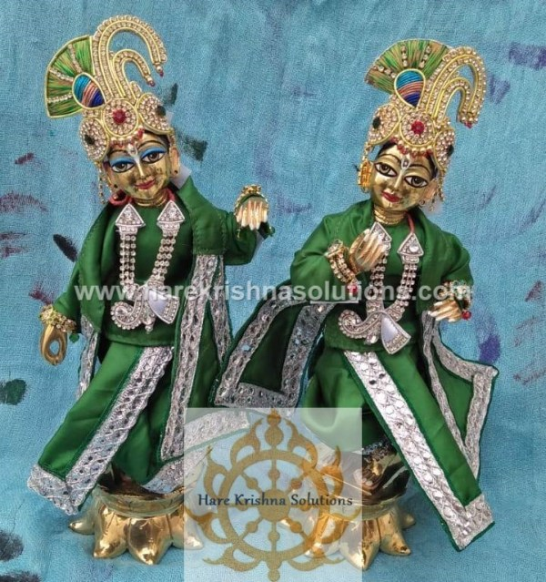 Krishna Balaram 10 inches PlainGreen (2)