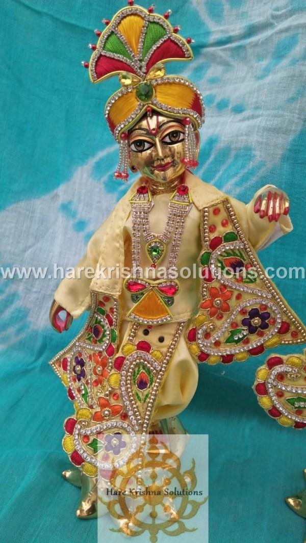 Krishna Balaram 10 inches light Yellow Dress (7)