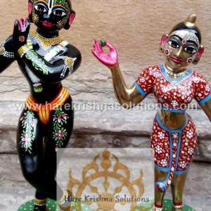 Radha Krishna 12 Inches Black Red