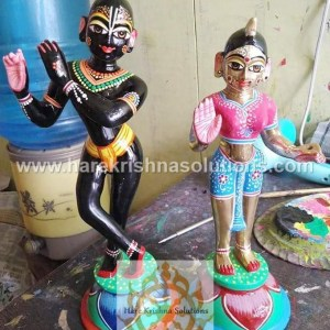 Radha Krishna 8 Inches- Black