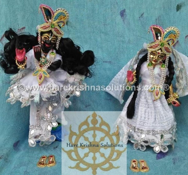 Radha Krishna 8 inches White (1)
