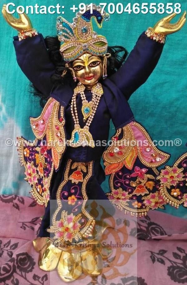 Gaura Nitai 12 inches Blue Dress (14)