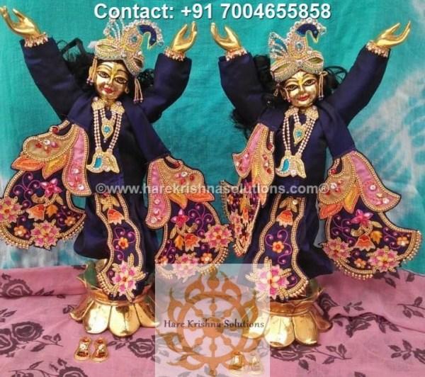 Gaura Nitai 12 inches Blue Dress (4)