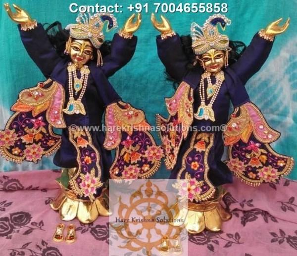 Gaura Nitai 12 inches Blue Dress (6)
