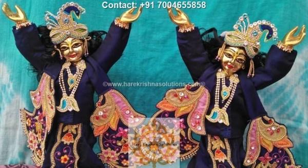 Gaura Nitai 12 inches Blue Dress (7)