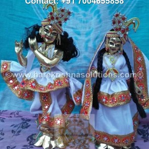 RadhaKrishna 12 inches White Dress (1)