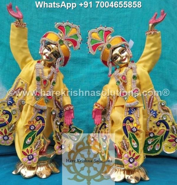 Gaura Nitai 12 inches Yellow 5