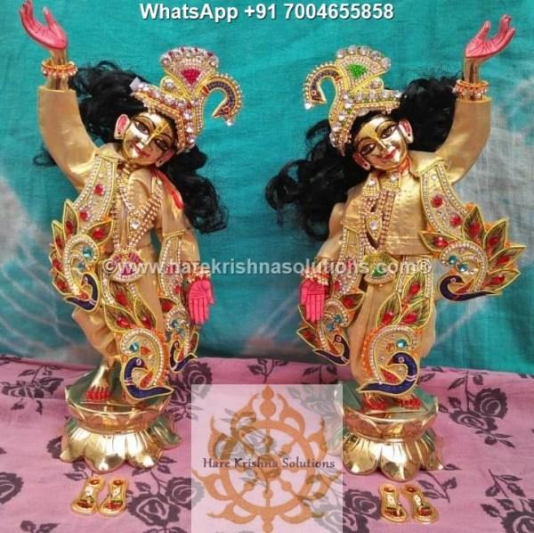 Gaura Nitai 12 inches Golden Dress 13