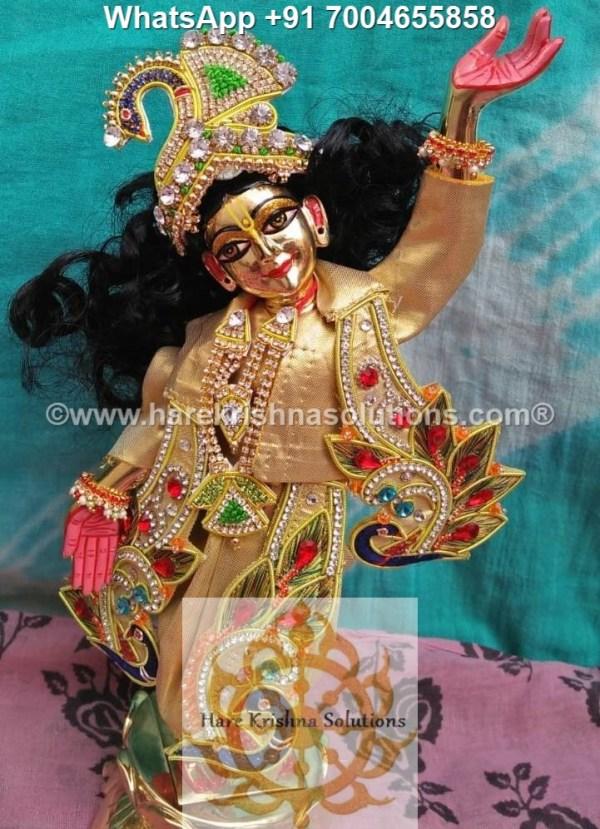 Gaura Nitai 12 inches Golden Dress 14