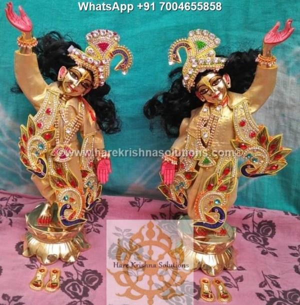 Gaura Nitai 12 inches Golden Dress 15