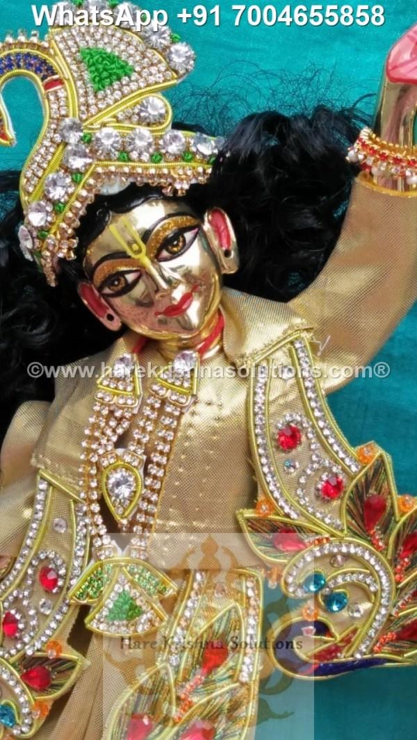 Gaura Nitai 12 inches Golden Dress 6