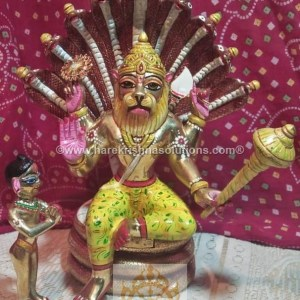 Prahalad Narasimha Dev 10 inches-Painted 7